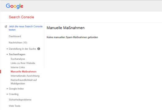 Manuelle Maßnahmen Google Penalty